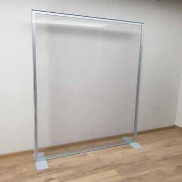 Paroi de séparation avec cadre en aluminium, inclus une bâche transparente en PVC